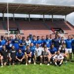 Séance d'entraînement commune terminée pour les équipes du TO et du Stade Toulousain © TO XIII