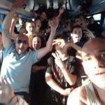 Minimes filles et minimes garçons du SAF XV au tournois d Perpignan Grosse ambiance dans le bus.
