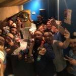 Pour la forme, selfi du dernier vendredi au club, on fête le planchot grioslles