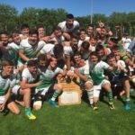 les juniors de vendres lespignan ont battu Argeles Gazost 17 à 13 ligue 2