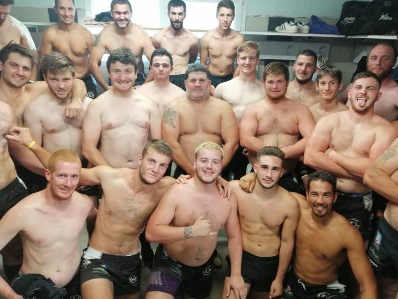 Le rugby club d'Eymeux en honneur en réponse aux Sprinkboks