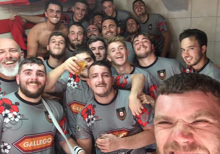 cadets de l'entente ORC'S LOU pour leur 1er match de la saison avec leur 1ere victoire.