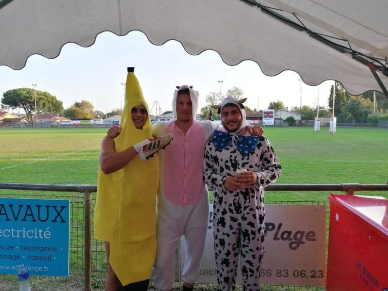 En banane c'est le cagoulin de la premiere, vache réserse, gujan milieu