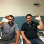 Fabien et Thomas , piliers du Kercorb. Une fracture chacun