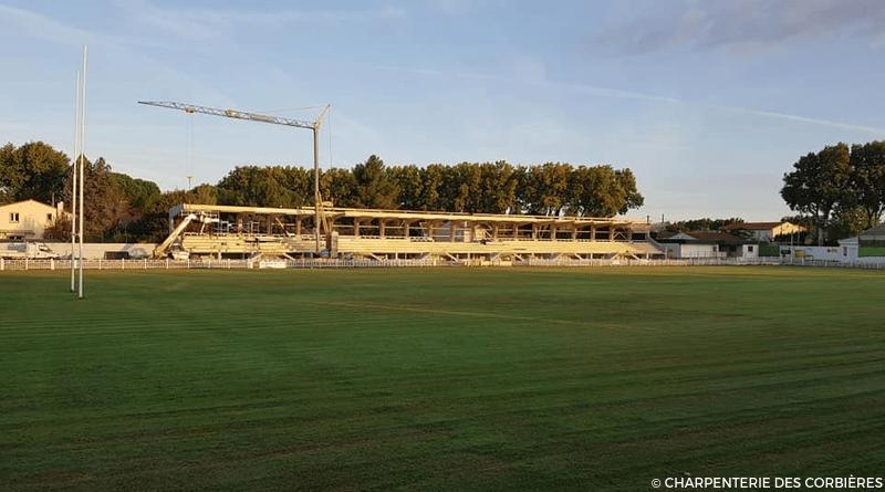 Les travaux du stade du Moulin avancent
