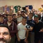 Selfie victoire du RC Pézenois depuis le club house, bar, restaurant, salle des fêtes du RCP XV