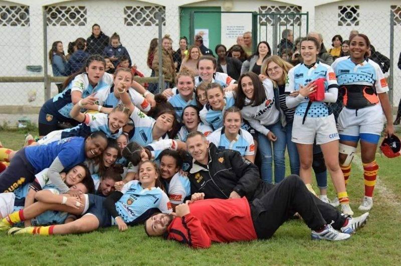 belle victoire des cadettes de l'USAP 29 à 18 contre le Stade Toulousain