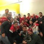 Le rugby c'est d'abord une histoire de copains ceux de salles sont allés fêter la victoire contre lormont avec Léo, blessé gravement à soustons