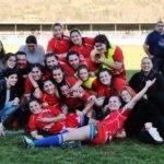 Les Rambailleuses d'Ariège après leur éclatante victoire 42 à 05 sur Montastruc en ouverture de la rencontre FOIX   LAVELANET.