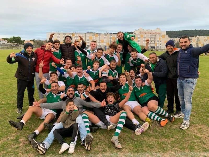Victoire des juniors de Sète 27 à 25