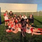 les Cadettes du Rugby Club Auscitain, déplacés à Villeneuve Tolosane contre la Sandrune. victoire et première de poule