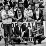 A Condom, phases finales Fédérale 2. Claude Alzieu, Président, Louis Monié, Co entraîneur 1982