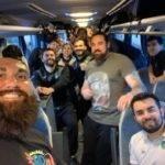 Selfie bus victoire apéro pour le rc pézens