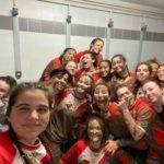 Première Victoire du play off de nos cadettes du RCFPO à Albi 21 5