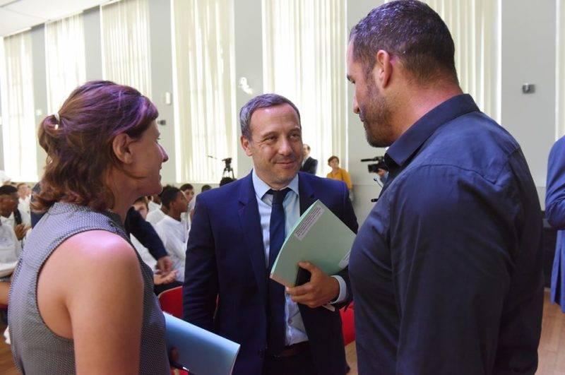 Roxana Maracineanu, Ministre des Sports et Adrien Taquet, Secrétaire d'Etat chargé de la protection de l'enfance