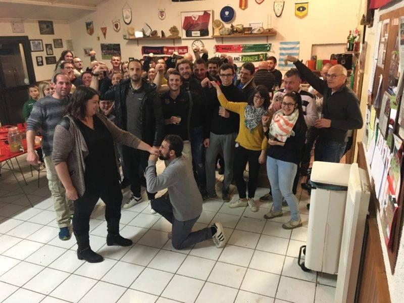 Selfie de Castelnau labastide USCB 117 avec en prime une demande en mariage de FOFO alias le tractopelle