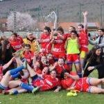 Les Rambailleuses d'Ariège fêtent leur victoire face aux filles de l'Avenir Masseube 45 à 00