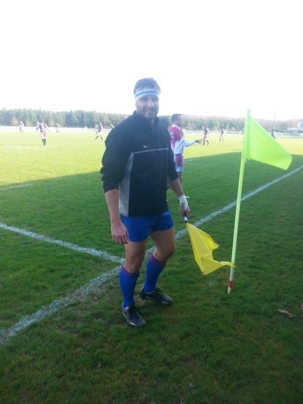 Simon Valzer en tenue de rugby c'est rare