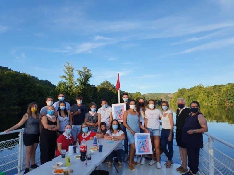 A défaut de match les infernalles du RCL (rassemblement Cahors Luzech) se sont faites mener en bateau sur le lot