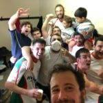 Selfie victoire de l'équipe réserve du Rugby Club Palaisien après sa victoire face à Payzac