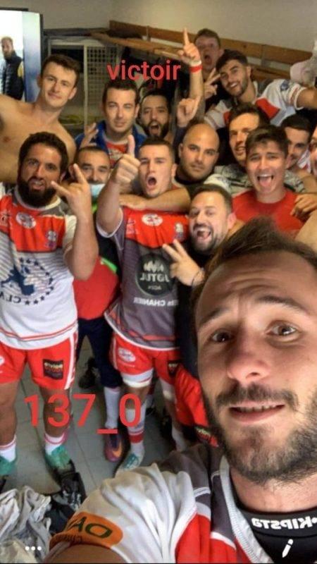 Victoire à la maison de la réserve de l'AS Passage 137à 0 contre Duras