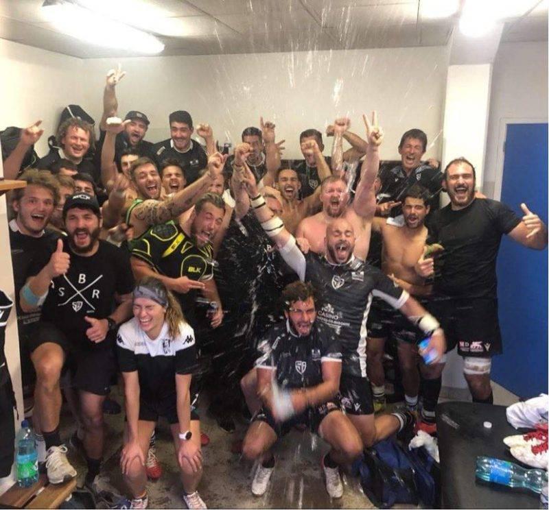 Le stade Bagnérais rugby, a fait un bon coup a Anglet, victoire 10 à 14 signé pepeye