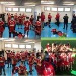 Les u19 du Beauvais rugby club re inventent le selfie de la victoire en mode covid
