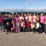Pour LE dernier match d4octobre LES JOUEUSES DE L4UAS pensé a la petite photo pour octobre rose avec l'équipe CARCA