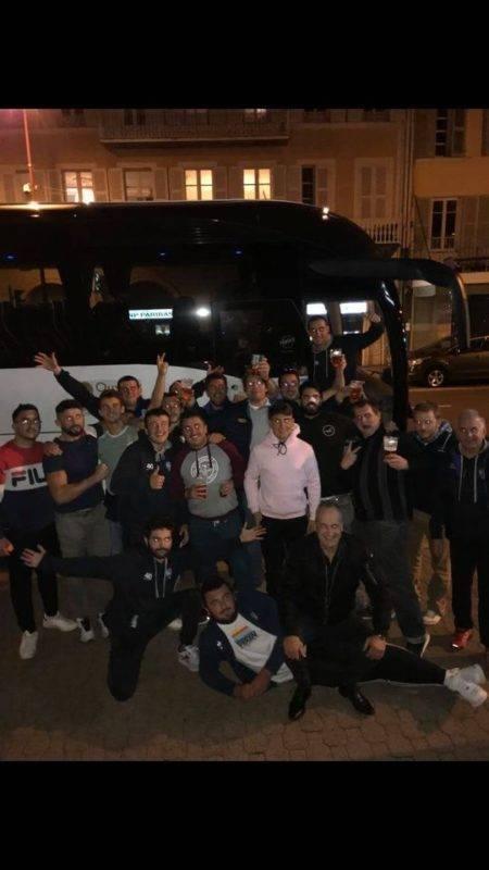 Victoire du Saint Mamet Rugby à Pulveriere sur le score de 32 23 avec un arrêt à Issoire