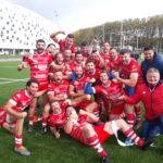 daglan en vainqueur à Limoges, les joueurs chantant les paysans ont vaincu la ville