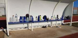 gestes barrières à l'école de rugby de la salanque scr xv