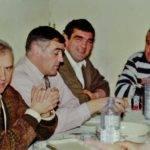 Louis, avec ses anciens coéquipiers Taffine, Cid, Jean photo pascal villalba