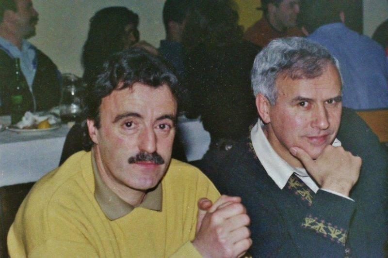 Louis, avec son coéquipier des années fastes Alain Barthez photo pascal villalba