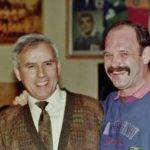 Louis, retrouvailles avec Roger Shackelton, international anglais, coéquipier de Louis au S.L. de 1972 à 74 photo pascal villalba