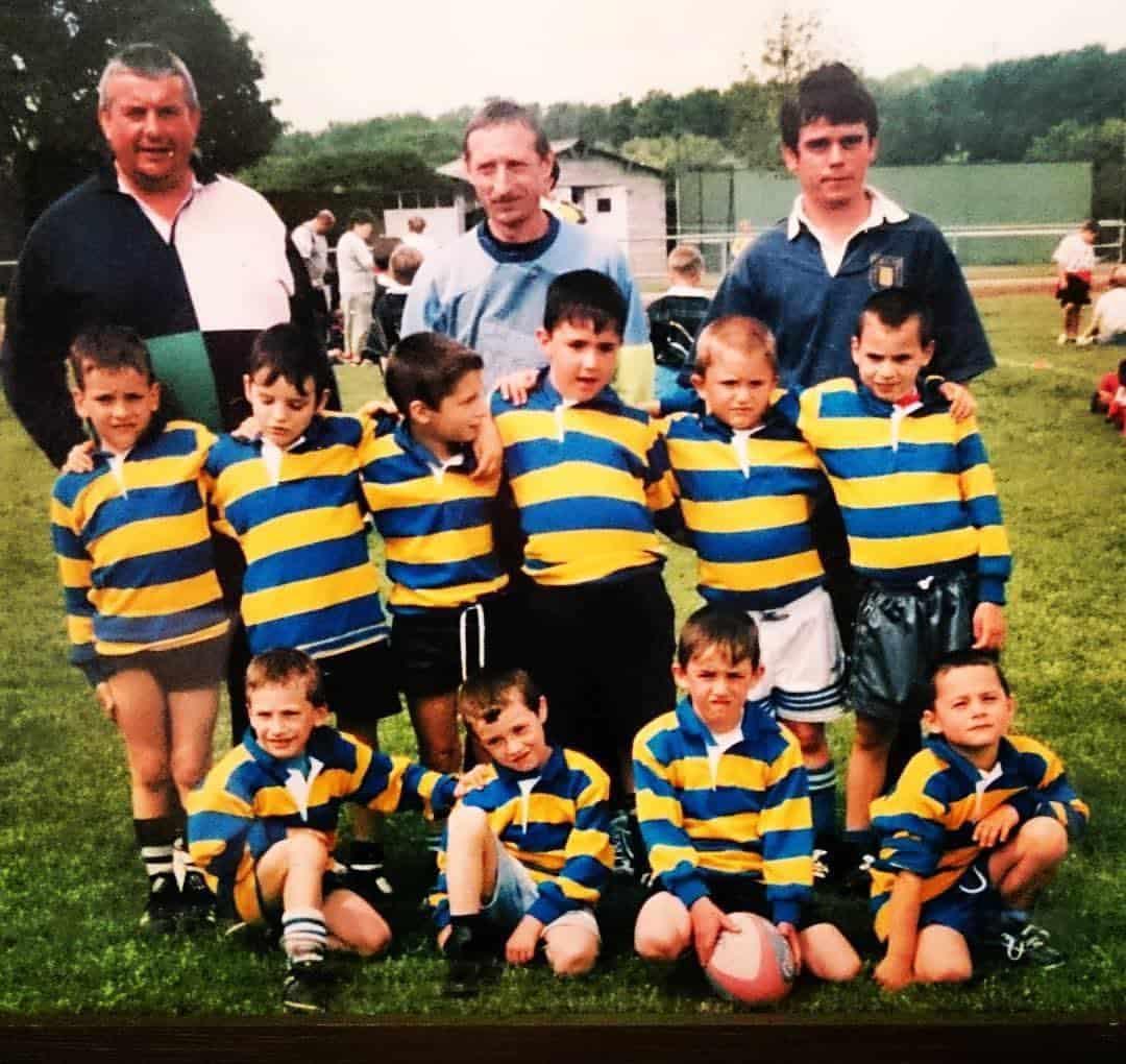 Vincent sous ses premières couleurs rugbystiques, du côté de l'école de rugby Treignac/Salon-la-Tour