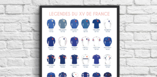 mur légendes XV FR