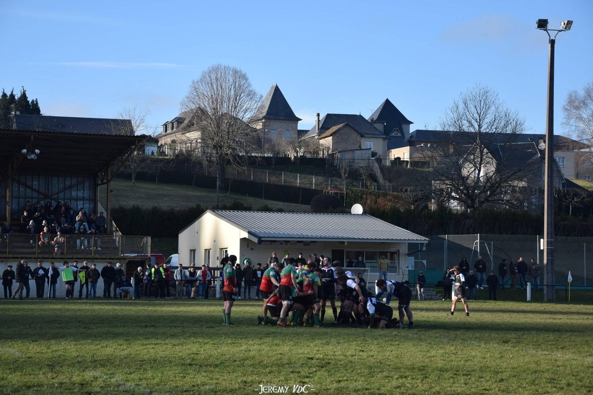 Le stade André-Barrière, antre du RC Treignac, a vu débuter l'histoire ovale de Vincent (crédit photo Jeremy VdC)