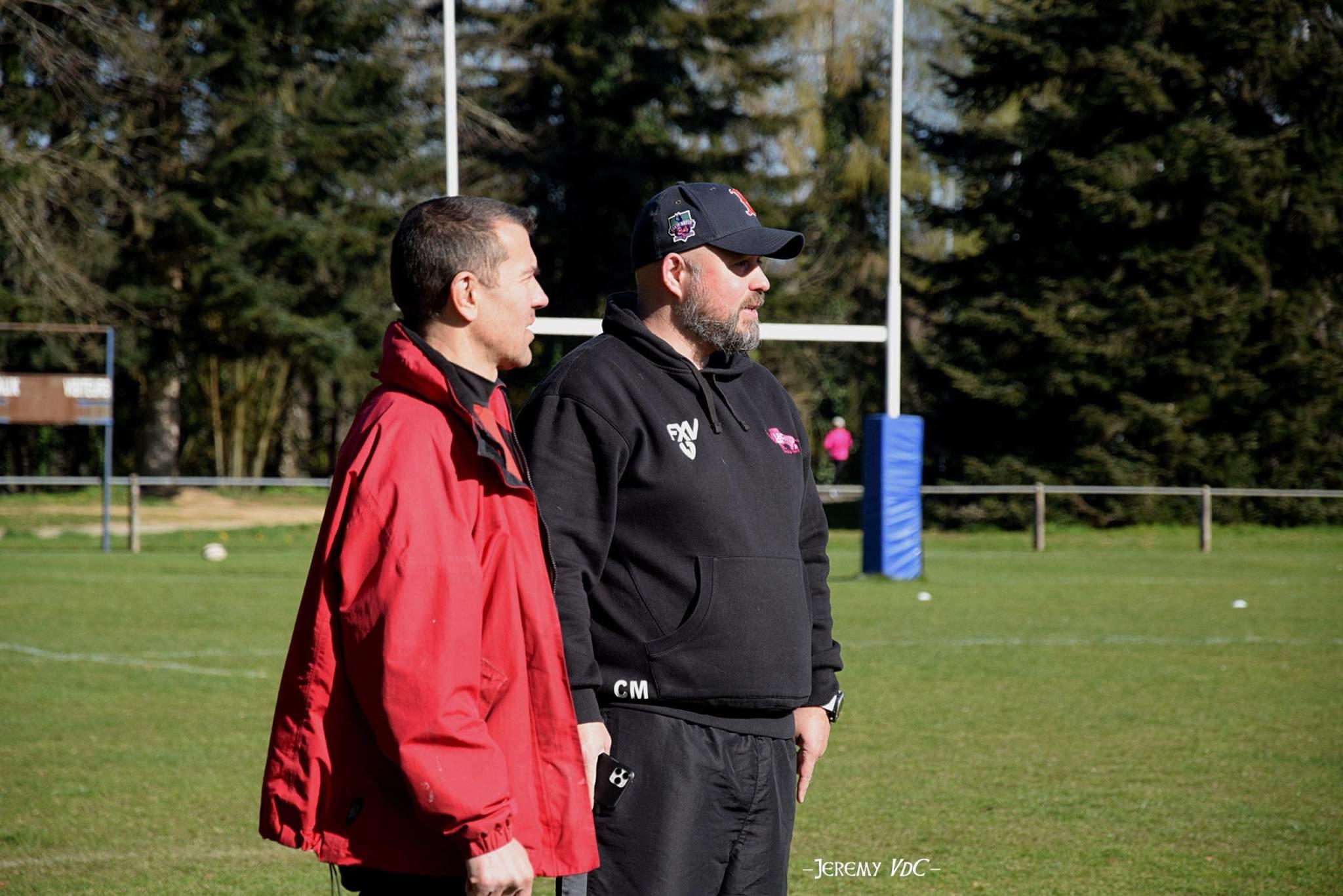 Anthony Dumas (à gauche), a décidé de continuer au Limoges EC en compagnie de Christophe Masboeuf malgré les contacts avec le RCPSY (crédits photo Jeremy VdC)
