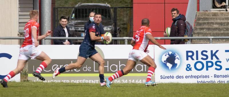 Face à Chambéry, Anthony Arty a joué ses premières minutes en Nationale avec le BSCR (Photo Alain Montségur).