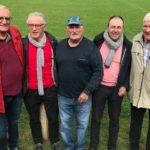 Rencontre à Montredon avec les anciens de 1972 Pierre Pauziès, Gérard Cournède, Robert Hernandez, Alain Rey, Sylvestre Rosowski.