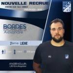 Alexandre Bordes, dernière recrue présentée par Tulle (crédit SCT)