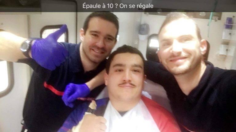 Léo Kaci blessé à l'épaule bon rétablissement à Baptiste M qui a fait lui aussi un séjour au urgence ucf 768x430