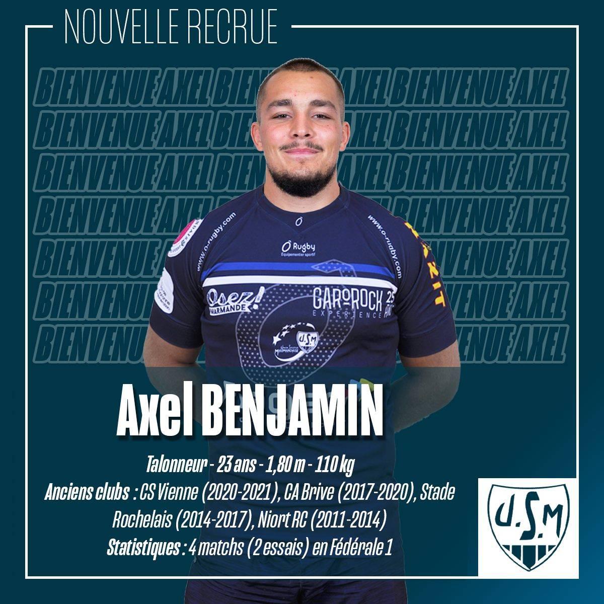 Axel Benjamin, un des nouveaux visages de l'effectif Lot-et-Garonnais (crédit USM)