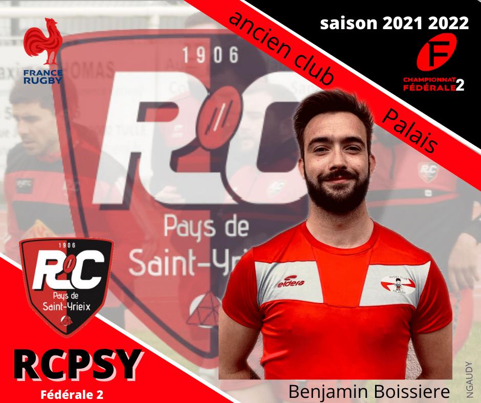 Benjamin Boissière fait partie des nouvelles recrues arédiennes (crédit RCPSY)