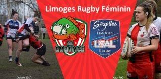 Deux clubs, mais un rassemblement qui regarde vers le même avenir : celui du rugby féminin à Limoges (montage RA, crédits photo Jeremy VdC et LRF)