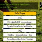 poules fédérale 2 féminine PACA Corse