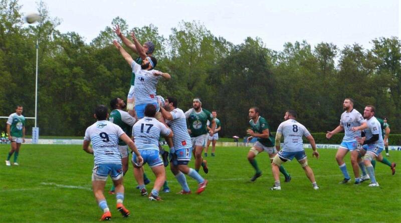 Fleurance et Peyrehorade au coude à coude mais ce sont bien les Gersois qui vont l'emporter Photo page Facebook Peyrehorade Sports Rugby