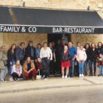 Les féminines de Puy l'Evêque ont mangé chez un sponsor avant d aller soutenir les garçons. Merci D'family and co