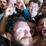 Selfie douche de l equipe b du Dammarie rugby club comité centre