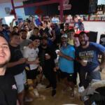 Selfie victoire murviel Thezan contre la tour du crieu